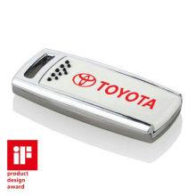 Password Protected Metal Usb Flash Drives Carabiner Clip 128mb