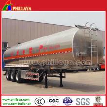 Tanque de óleo do reboque do armazenamento de combustível do aço carbono de 48 Cbm semi