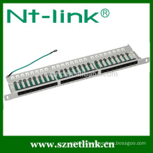 0.5u 19inch 24 port cat6 rj45 stp blank patch panel