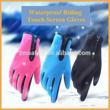 Gants de vélo d'écran tactile imperméables de néoprène d'hiver de doigt plein gants de vélo