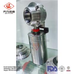 SS304/SS316L sanitary thread pneumatic butterfly valve