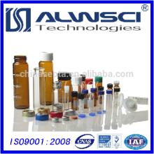 Mehrfarbige OEM-made Klarglas-Aufbewahrungsfläschchen mit PTFE-gefütterter Schraubverschluss