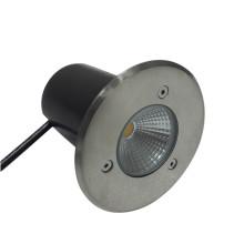 Outdooor Boden wasserdicht IP67 3W RGB Weiß LED unterirdischen Licht Edelstahl