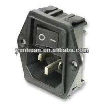 IEC de entrada con interruptor con fusible