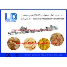 Shrimp Chips 3d Pellet Extruded Pellet Frying Snacks Machine Drying / Frying / Flavoring Chips
