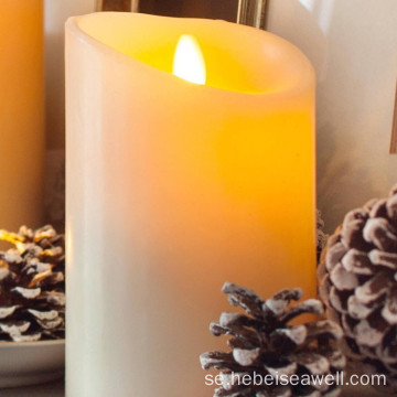 Real Wax Pillar Artificial Flameless LED Candle
