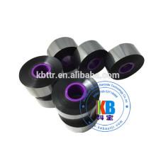 Fita de resina de cera preta 33mm * 600 m compatível Domino impressora fita preta