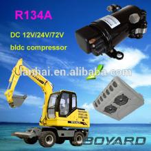 R134a boyard bldc 12 v mini compressor de ar para refrigeração móvel de geladeira