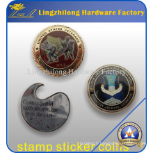 Custom Military Stamp Sticker Coin with Epoxy Coated