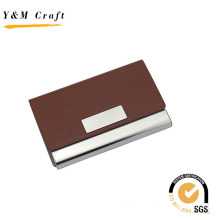 Fashion PU Leather with Metal Business Name Card Holder