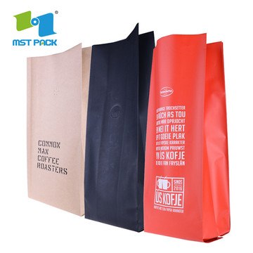 100% Kitar Semula Custom Printed Logo Brown Kraft Paper Bag