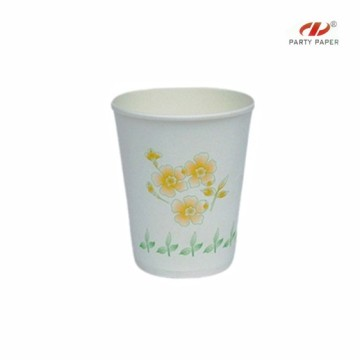 Personalized Plants Printing Paper Cup For Tea