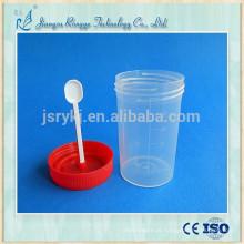 60ml recipiente de urina de escarro médico descartável com colher