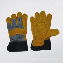 Cow Split Leather Mesh Back Work Glove-3087
