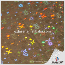 16micron pet laser holographic film for furniture
