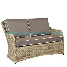 Móveis de vime Poly Rattan Love Seat Garden Sofa