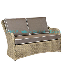 Плетеная мебель Poly Rattan Love Seat Garden Sofa