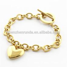 Bijoux à la mode bracelet en or coeur 18k pour dames bijoux en acier inoxydable Chine fournisseur