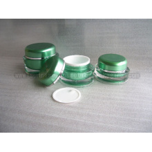 15g 30g 50g Green Round Shape Acrylic Cream Jar