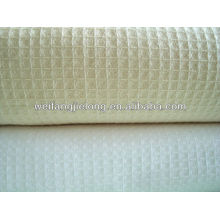T/C 65/35 plain dyed honeycomb fabric for hotel bathrobe