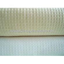 T / C 65/35 tecido favo de mel liso para roupão de banho do hotel
