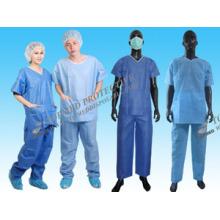 Cheap Hospital Blue Lab Coat/Qualited Hospital Work Clothing Labcoat Manufacture/Wholesale Medical Scrub Suit