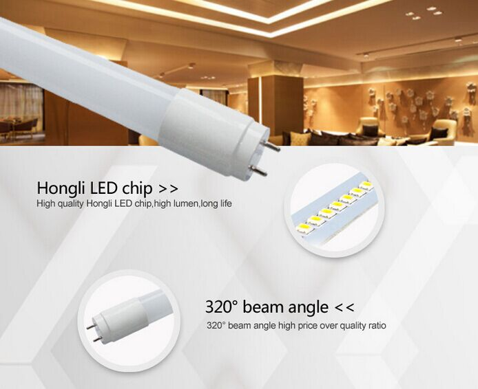 18W CE Transparent T8 1200 mm LED Tube Lights