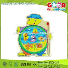 Juego de pesca de madera juego de pesca de tortugas de dibujos animados juego de pesca de niños