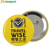 Emblema de botão de impressão redondo