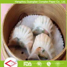 Papel dim sum del trazador de líneas del vapor del pergamino reutilizable de 5.5 pulgadas antiadherente