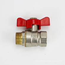 1/2 3/4 1 inch Best quality anti-slip and anti-heat handle brass core brass rod water brass ball valve with butterfly handle
