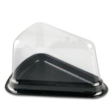 Пластиковый пищевой контейнер прозрачный треугольник ПЭТ коробка для торта