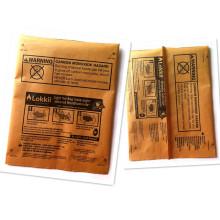 Malote de empacotamento plástico do carvão vegetal de papel, malote selado meio