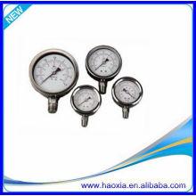 Neumático Manómetro de aire de acero inoxidable para el precio barato
