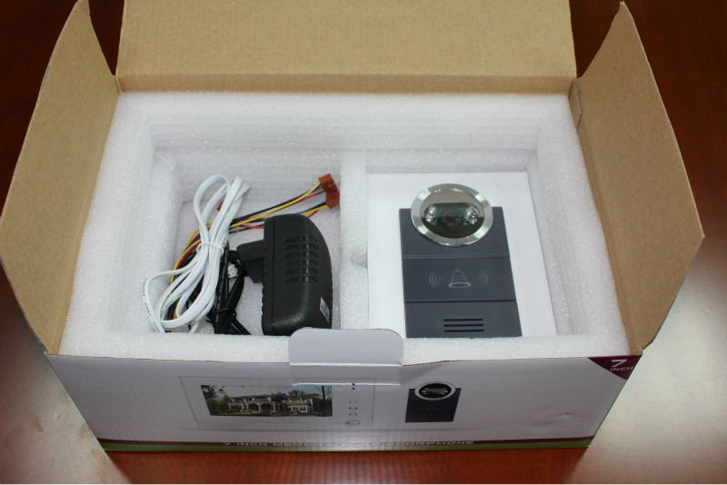 wire video door phone color box