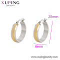 E-639 Xuping fashion simple designs gold jewelry bali clip earrings for girls