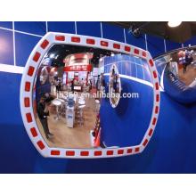 Miroir extérieur convexe réfléchissant du trafic extérieur en plastique de 12x18 pouces