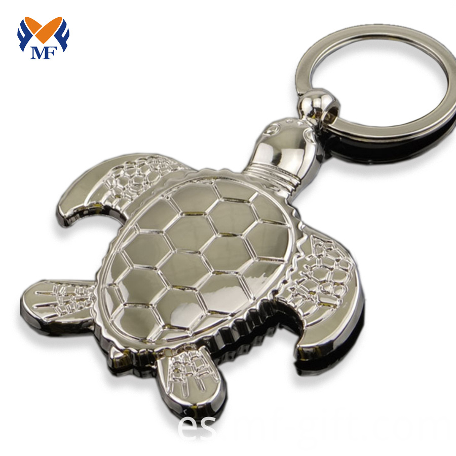 Metal Turtle Keychain