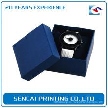 Caja de lujo profesional modificada para requisitos particulares del reloj de la joyería del color de bule con la almohada
