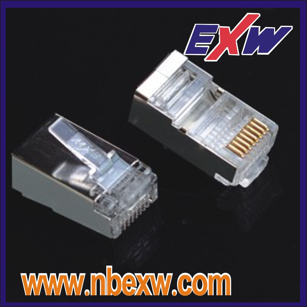 RJ45 Male Cat5e Shielded Plug