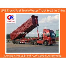 Chineses Heavy Duty 3 Eixos 45 Cbm Fim Trailer