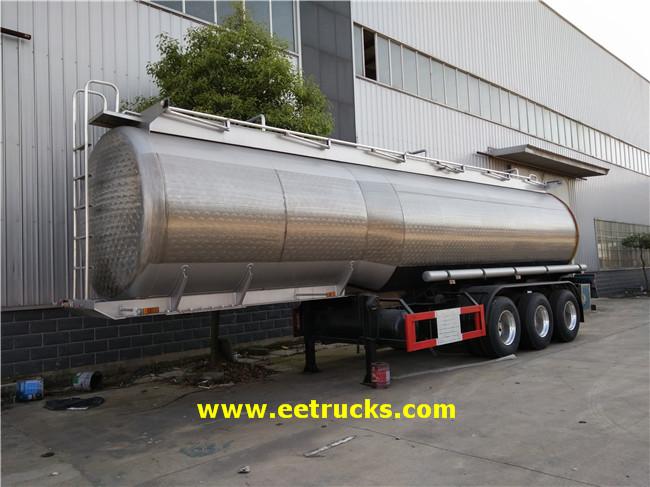3 Axle 34000 Litres Hydrogen Peroxide Tank Trailers