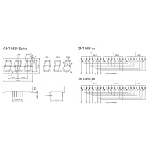 0.56 Inch 3 Digit 7 Segment Display (GNS-5631Ax-Bx)
