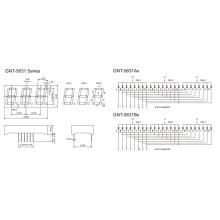 0,56-дюймовый 3-значный 7-сегментный дисплей (GNS-5631Ax-Bx)