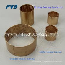 Roulé, bronze, peu d'entretien, palier de lubrification à base d'huile ou de graisse