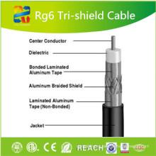 Коаксиальный кабель RG6 с коаксиальным кабелем 75 Ом с ETL CE