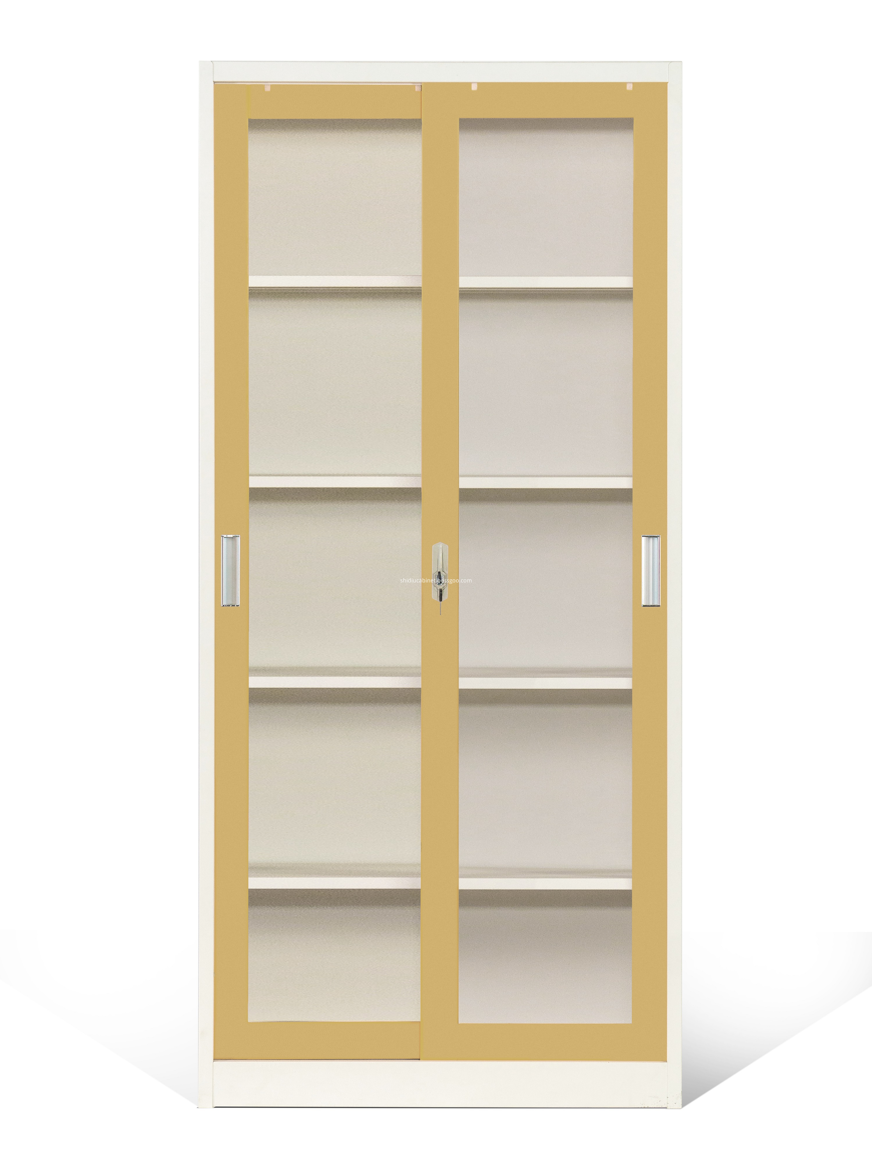 file cabinet with glass door