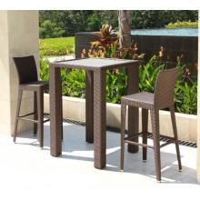 Conjunto de taburete de Bar de Patio al aire libre de muebles rota jardín mimbre
