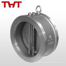 válvulas de retención de oblea cf8 DN150 pn16 de doble aleta en acero inoxidable