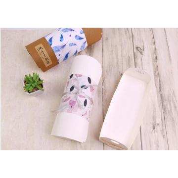 Caixa de embalagem ocidental branca dos petiscos com punho